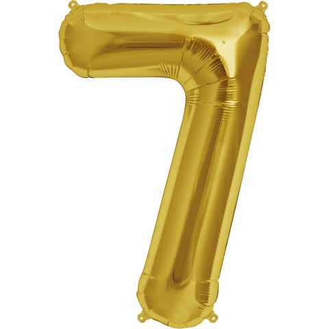 Figurfolieballong, siffra 7 guld