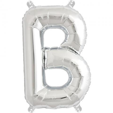 Uppblåsbar ballong, silver B