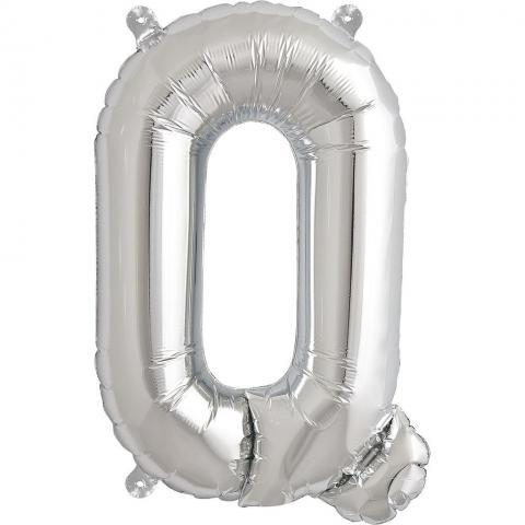 Uppblåsbar ballong, silver Q