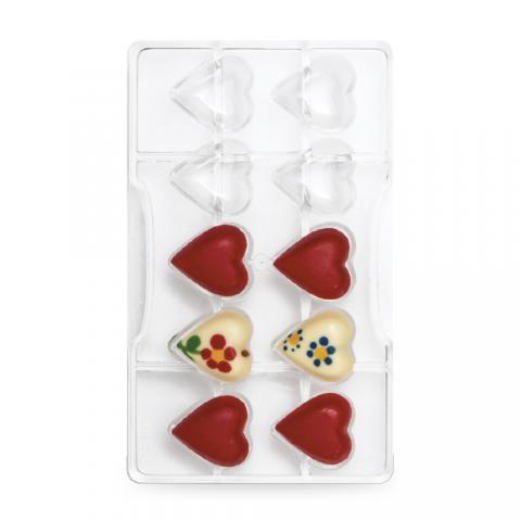 Chokladform, Hjärtan