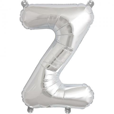 Uppblåsbar ballong, silver Z