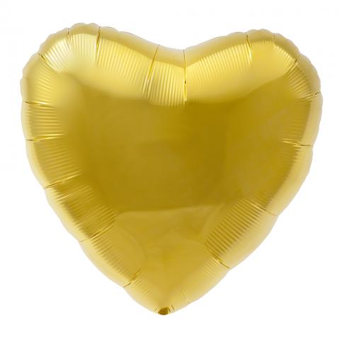 Folieballong, guld hjärta
