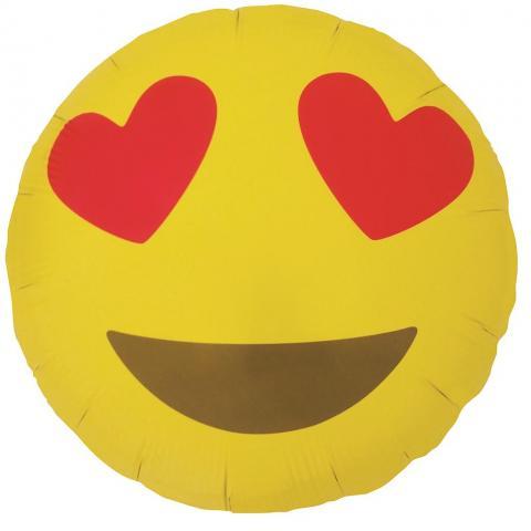 Folieballong, Emoji Heart Eyes