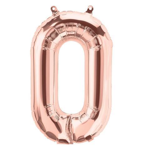 Uppblåsbar ballong, roséguld nr 0