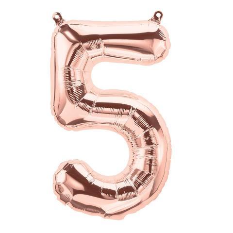 Uppblåsbar ballong, roséguld nr 5