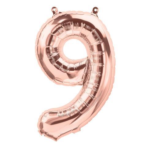 Uppblåsbar ballong, roséguld nr 9