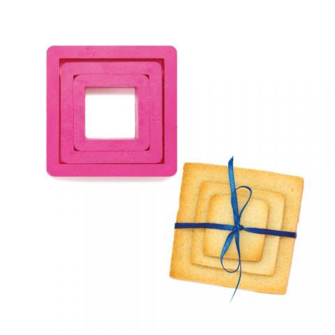 Utstickarset, fyrkant 3st