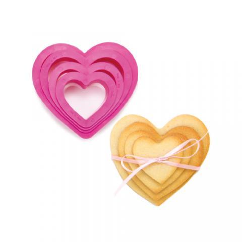 Utstickarset, hjärta 4st