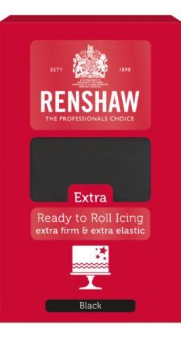 Renshaw EXTRA sockermassa, svart 1kg