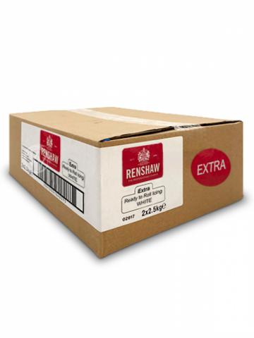 Renshaw EXTRA sockerpasta, vit 2 X 2,5kg