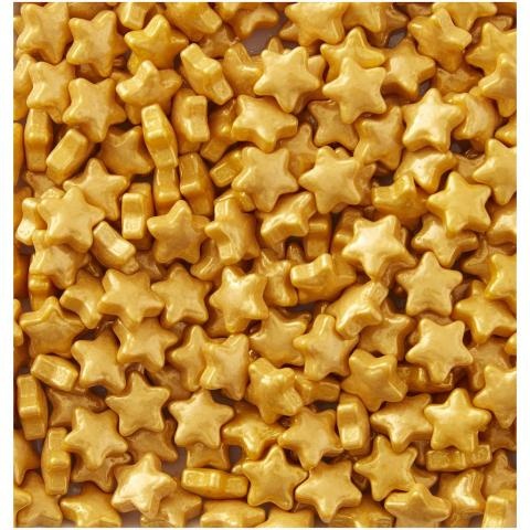 Wilton strössel, guld stjärnor