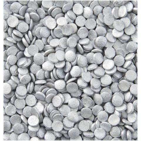 Wilton strössel,  silver miniconfetti