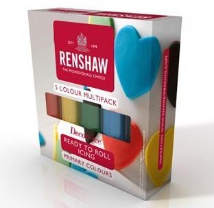 Renshaw sockerpasta, färgsortiment