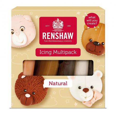 Renshaw sockerpasta set, Naturella färger