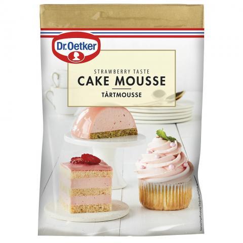 Dr Oetker tårtmousse, jordgubb
