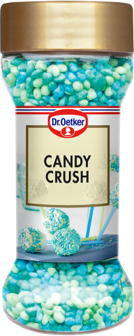 Dr Oetker strössel, candy crush