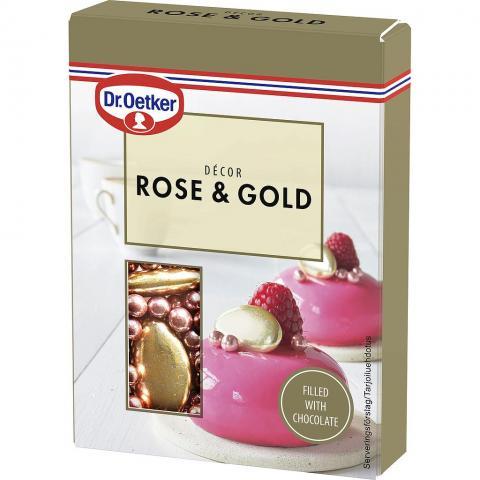 Dr Oetker dekorationspärlor, Rose & Gold