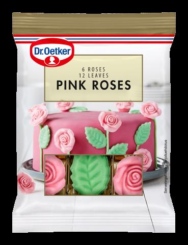 Dr Oetker ätbar dekoration, rosor och blad