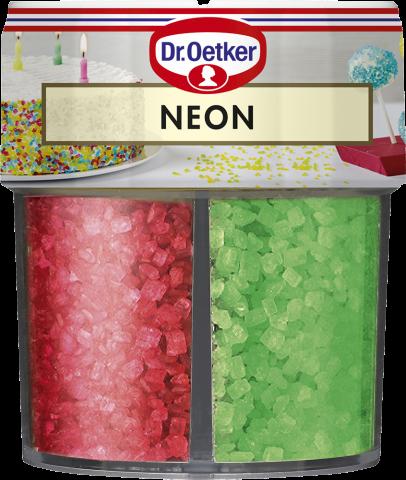 Dr Oetker strössel, neon