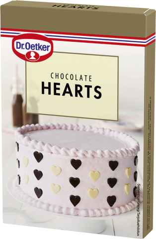 Dr Oetker chokladdekoration, hjärtan