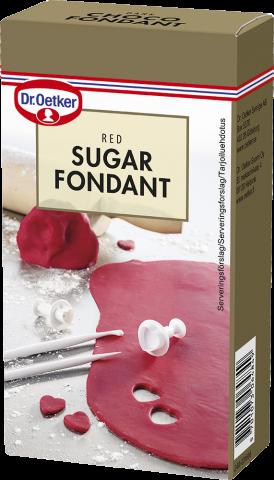 Dr Oetker sockermassa, röd 250g