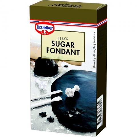 Dr Oetker sockermassa, svart 250g