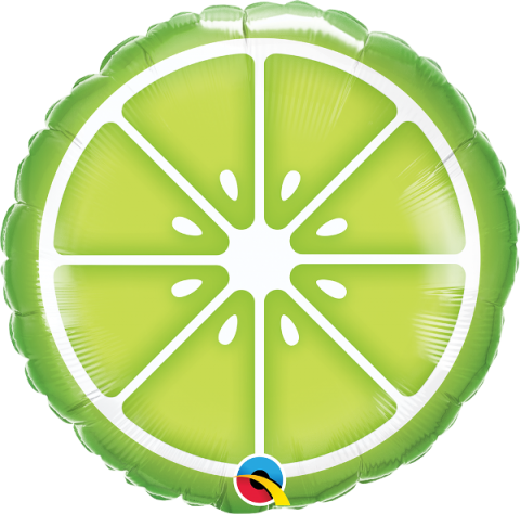 Folieballong, sliced lime