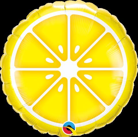 Folieballong, sliced lemon
