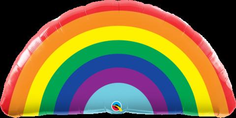 ballong, bright rainbow