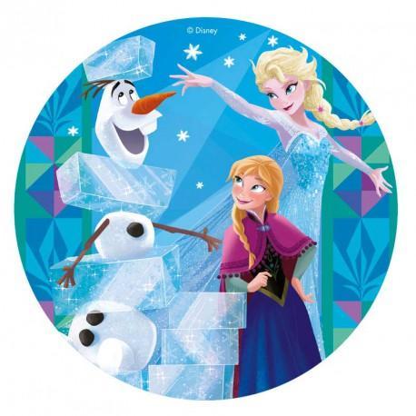 Färdig tårtbild - Frozen