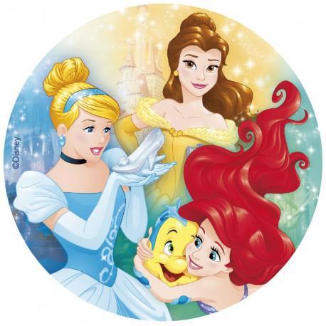 Färdig tårtbild - Disney Prinsessorna