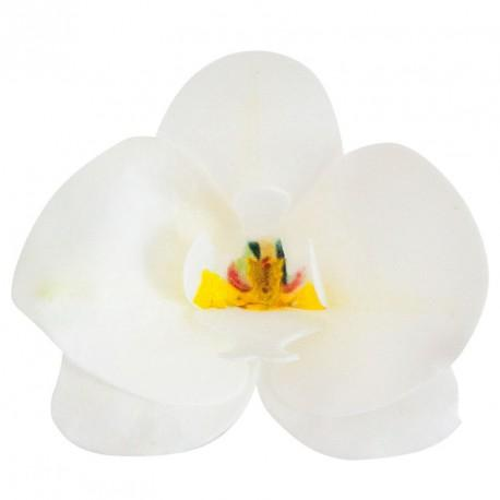 Ätbar dekoration, vit orkidé 10st