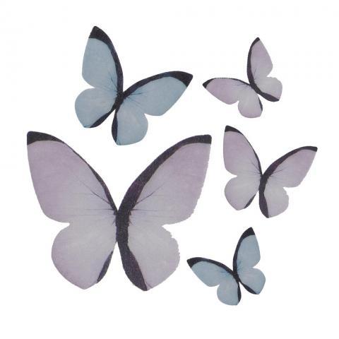Ätbar dekoration, fjärilar 79st