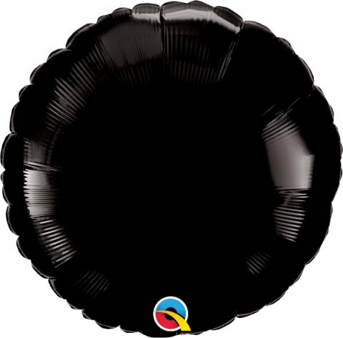 Folieballong, rund svart