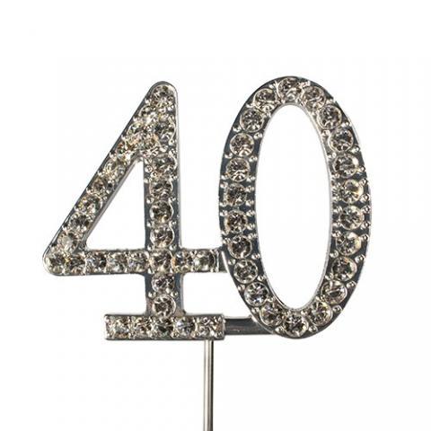 Tårtdekoration, diamanter 40