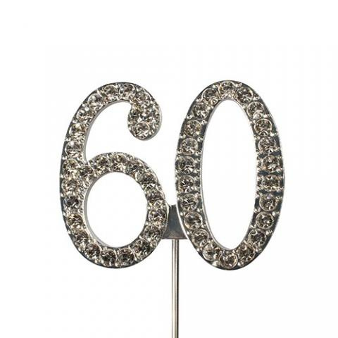 Tårtdekoration, diamanter 60