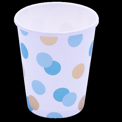 Blue & Gold dots muggar