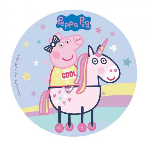 Tårtbild, Greta Gris och enhörning