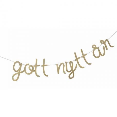 Gott nytt år banderoll guld