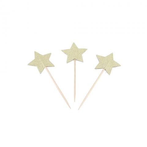 Cocktailpinnar, guldstjärnor
