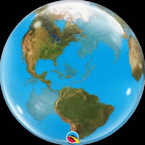 Bubbleballong, jorden