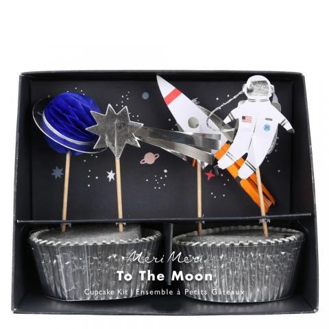 Dekorationsset för cupcakes, Space