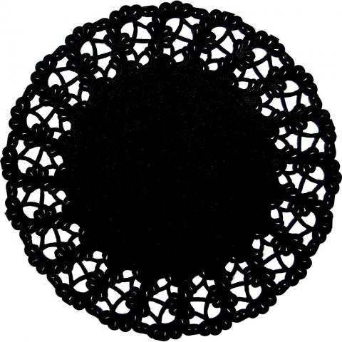Runt tårtpapper, svart 30cm