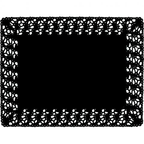 Fyrkantigt tårtpapper, svart 30x40cm