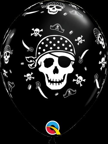 Gummiballong 6st, pirat