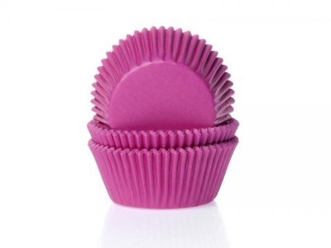 Muffinsform, mörk rosa