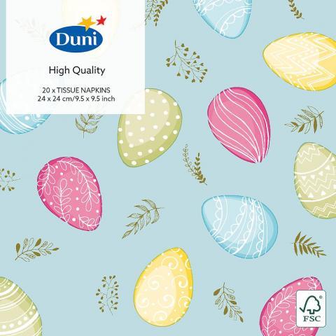 Små servetter, Pastel Eggs