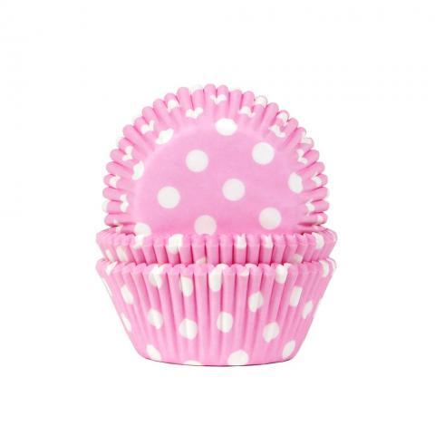 Muffinsform, polkadot ljusrosa (babypink)