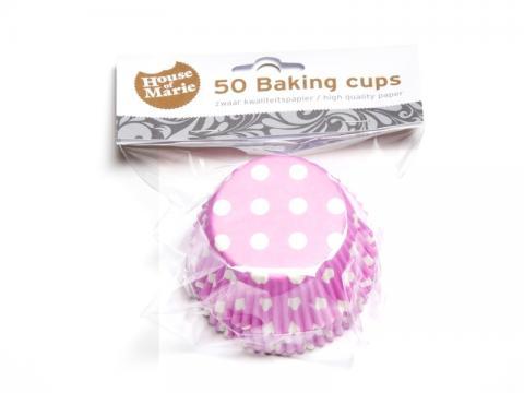 Muffinsform, polkadot rosa