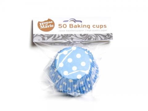 Muffinsform, polkadot blå